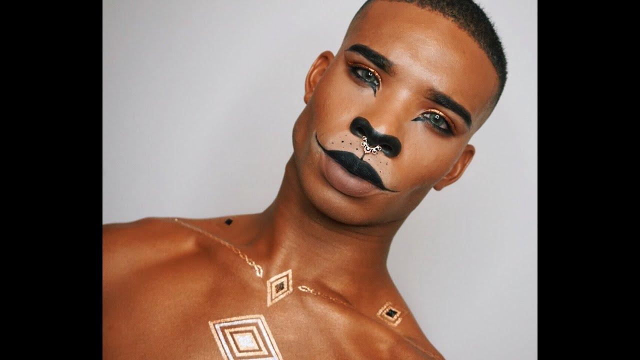 Egyptian Cat Halloween Makeup Tutorial - YouTube