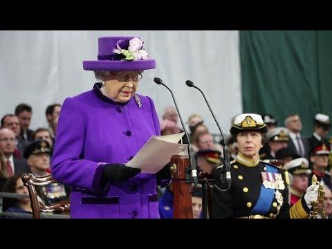 Авианосец Королева Елизавета - Церемонии Наречения корабля и Приема в состав ВМФ (HD, Русс.)