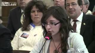 New Jersey Girl Fired up about the 2nd Amendment At the Gun Control Hearing