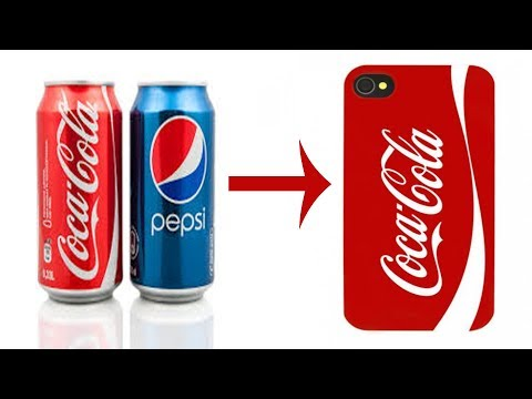 DIY make phone case with soda can|| coca-cola can.