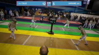 T8. UKRAINE - ITALIE. Sabre women teams.