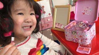 メイクアップ!!ドレスアップ!!おけしょうごっこ遊び Kids Play Make Up and Dress Up