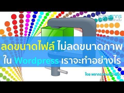 ลดขนาดไฟล์ แต่ไม่ลดขนาดภาพ ใน Wordpress ทำอย่างไรดี ⁉️