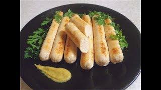 Рецепт сосисок из 2-х ингредиентов.  Домашняя колбаса.