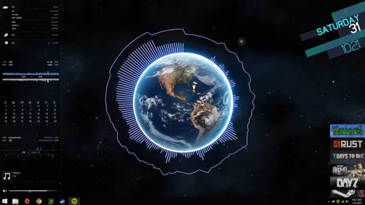 Beautiful Space 3d Wallpaper The Beauty Of Rainmeter Youtube