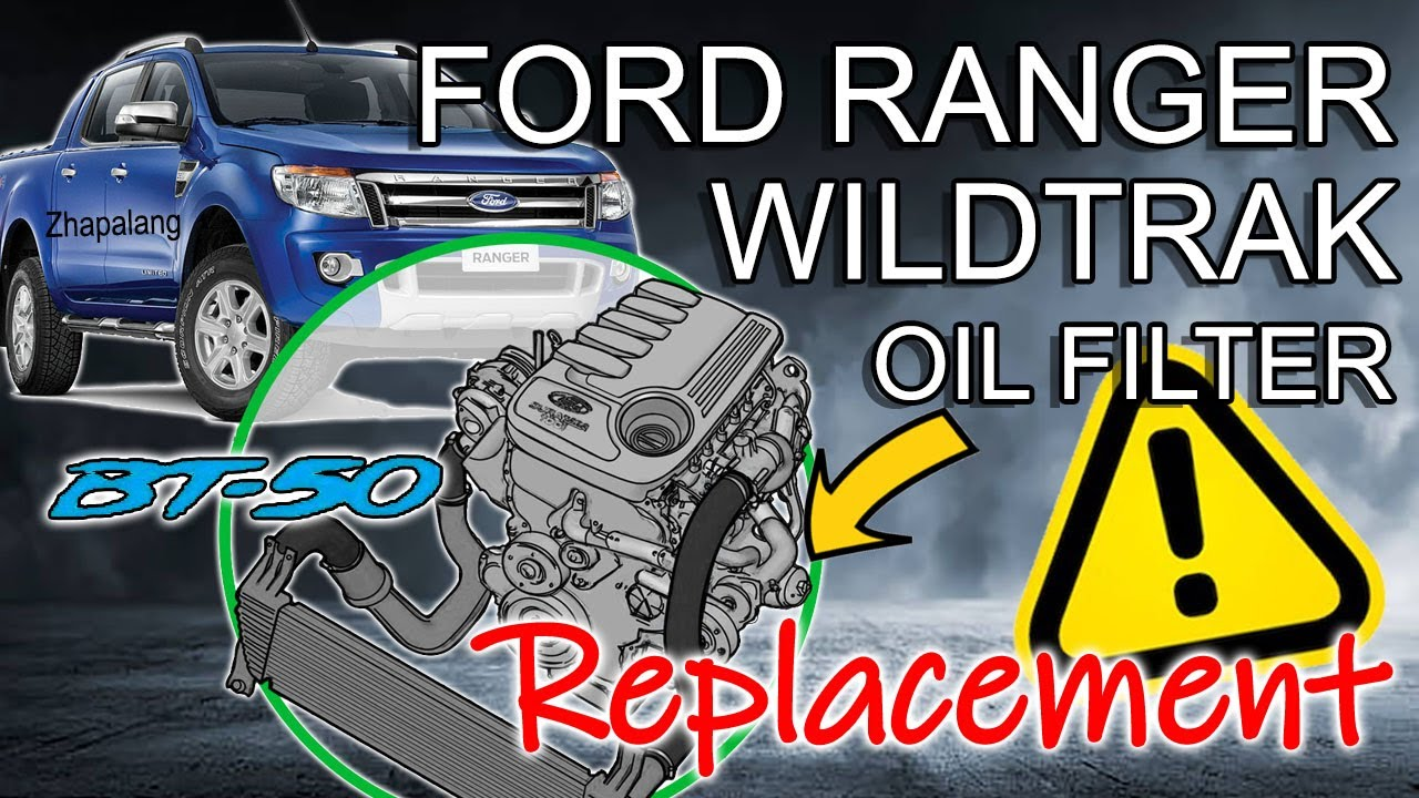 Ford Ranger Wildtrak 3 2 Oil Filter Replacement Youtube