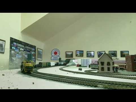 Reading Freight Train on the Tamaqua Anthracite Model Railroad Club Freelanced Railroad