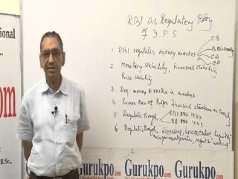 RBI as regulator of Indian Financial System Lecture, MBA by Mr. B.K.Jain.