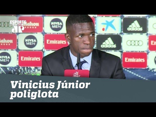 """Vinicius Júnior fala espanhol no Real e é elogiado: """"ESFORÇADO!"""""""