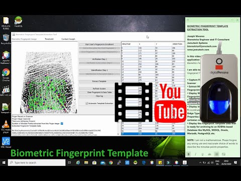 Biometric Fingerprint Template - How to Extract a Fingerprint Template from a Fingeprint Image