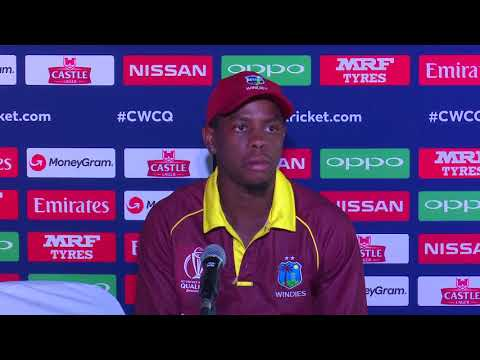 CWCQ : West Indies Shimron Hetmyer Post match press conference 6th March 2018