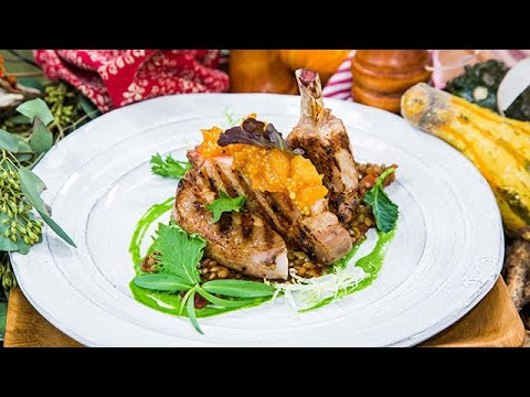Seared Pork Chop with Apricot Mostarda Home & Family