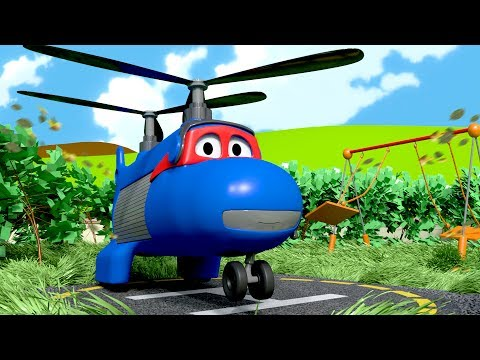Carl the Super Truck is The Cargo Plane in Car City| Trucks Cartoon for kids