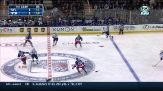 Vladimir Tarasenko end to end PPG 1-1 St. Louis Blues vs NY Rangers Nov 3 2014 NHL