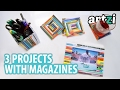 Craft Ideas with Old Magazine :: How to make picture frame / coaster / pencil holder