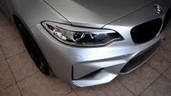 Satin Silver Chrome full wrap BMW M2 GlaubenWraps