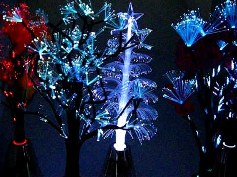 Home Office Decor Fiber Optic Red Flowers Light Tree from buynmail.com