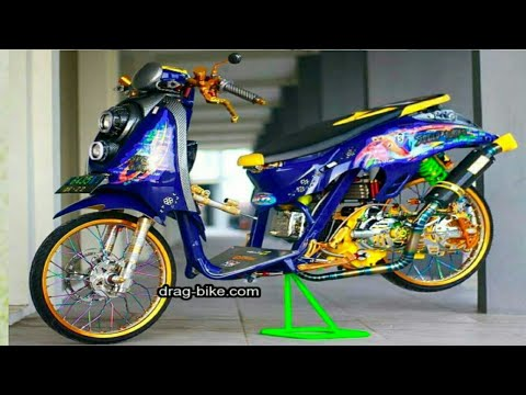 40 Gambar Modifikasi Scoopy Thailook Simple Jari Jari Velg 17