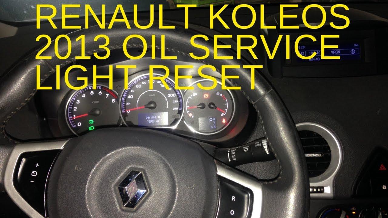 small resolution of renault koleos 2013 oil service warning light reset
