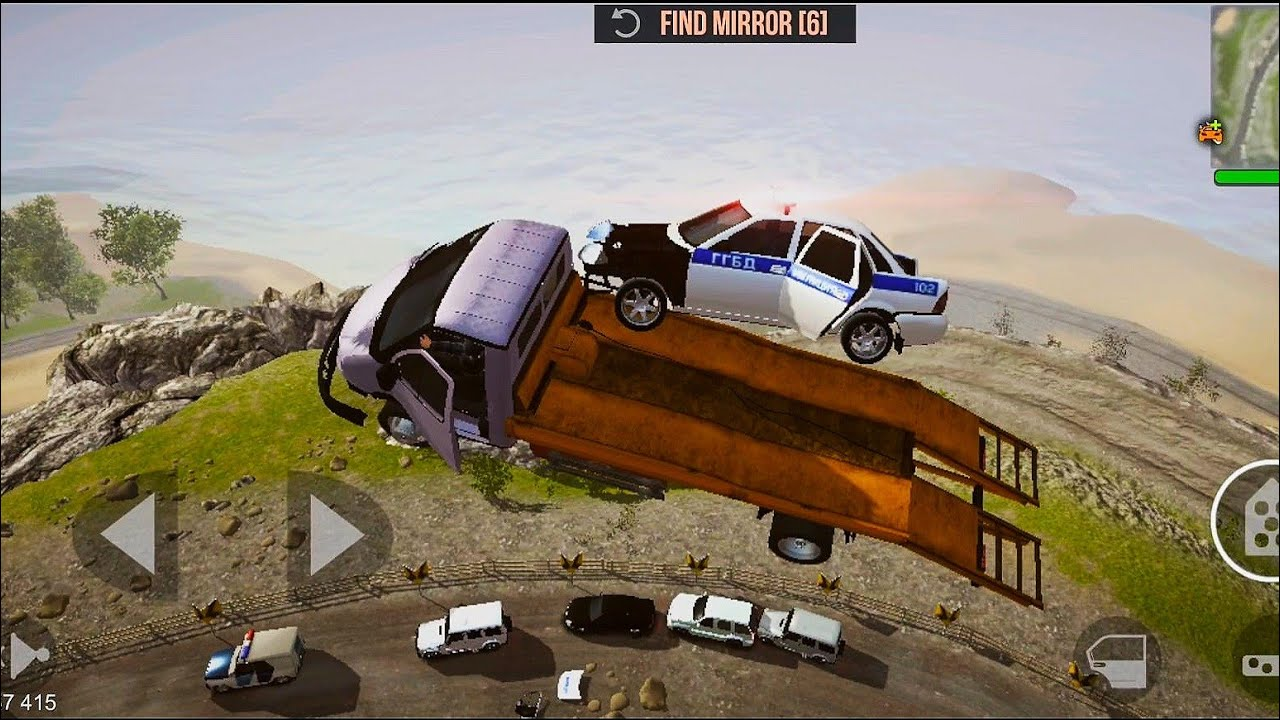 Madout 2 Big City Online Crazy Russian Cars 32 Jump Troller Police Car Youtube