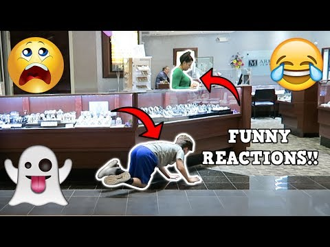 SCARING PEOPLE AT THE MALL PRANK!!