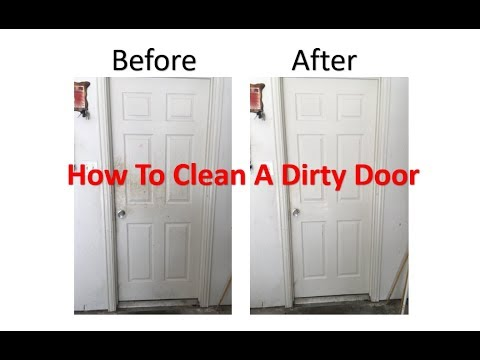 How To Clean Your Doors Walls And Baseboards With Household Products