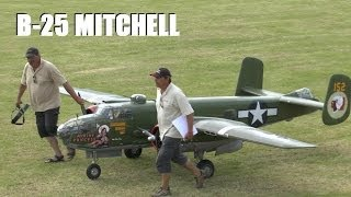 giant 1 3rd scale rc warbird b 25 mitchell bomber at weston park model airshow 2014