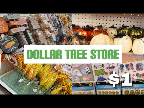 🍁 SHOP WITH ME AT DOLLAR TREE STORE /  🍁 FALL 2020 DECOR AUGUST / $1