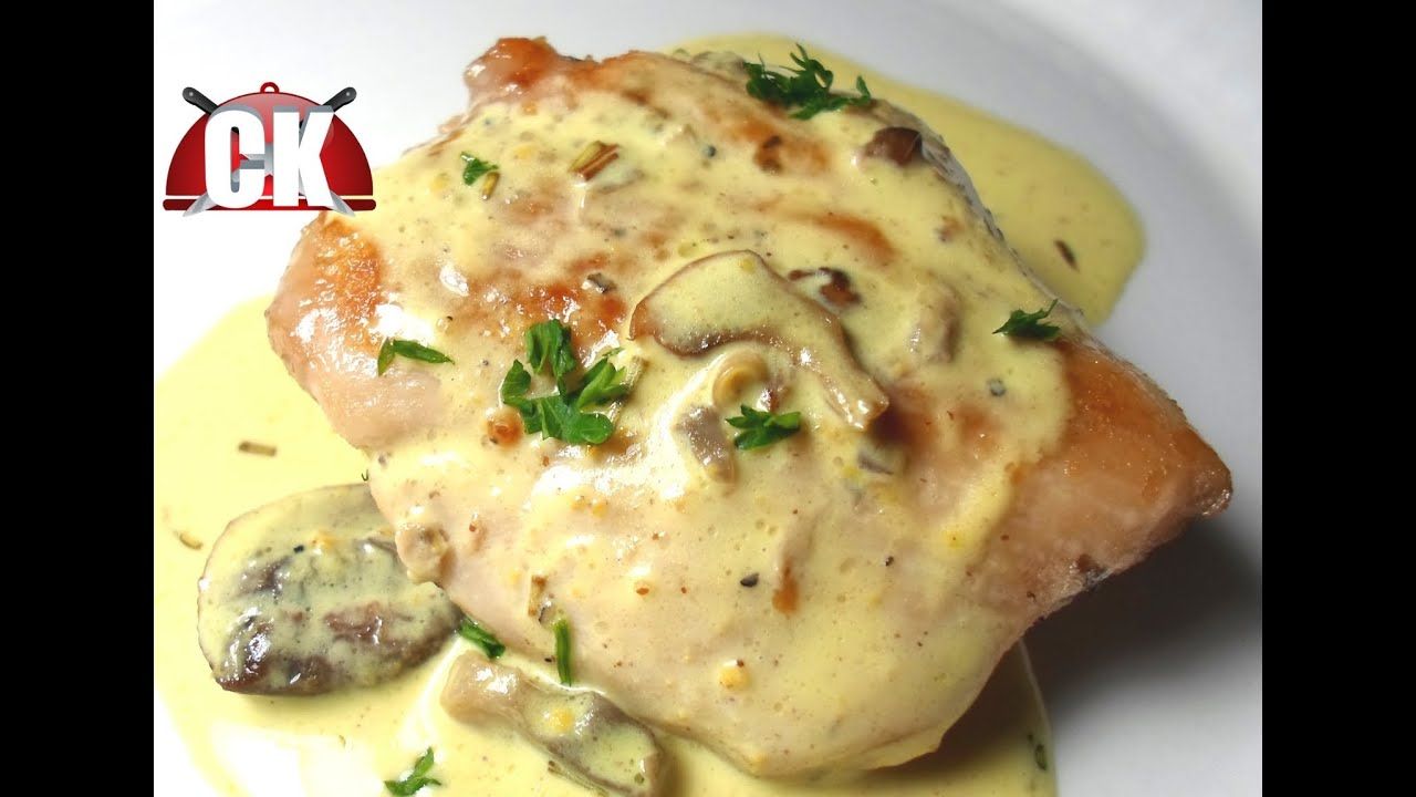 How To Make Sauteed Chicken With Mushroom Cream Sauce  Easy Cooking!   Youtube