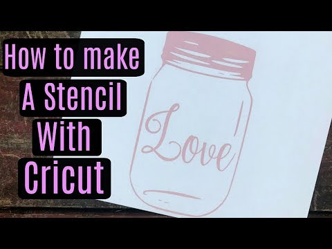 HOW TO MAKE A STENCIL WITH CRICUT AND ORAMASK 813