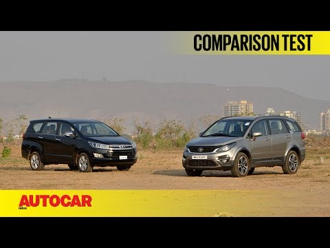 Tata Hexa vs Toyota Innova Crysta | Comparison Test | Autocar India