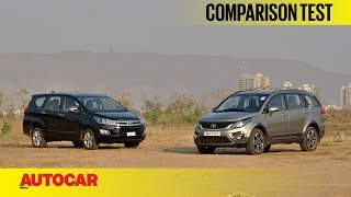 Tata Hexa vs Toyota Innova Crysta | Comparison ...