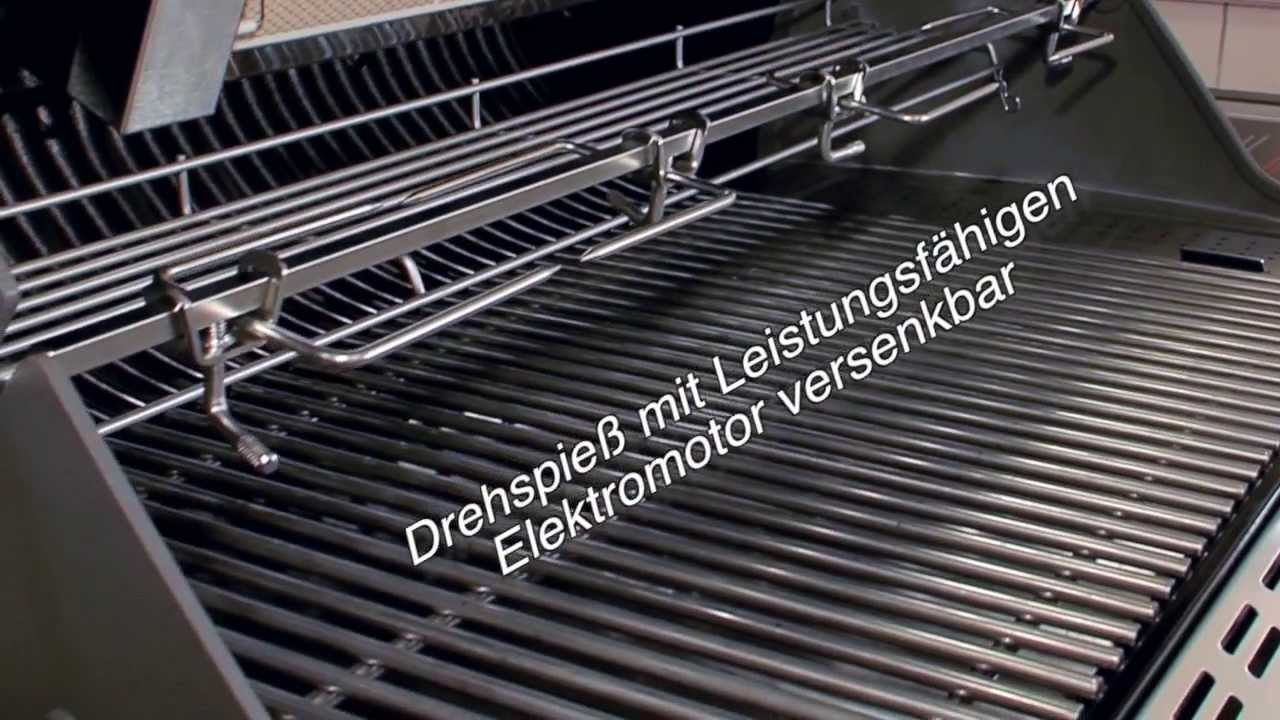 weber summit s 670 gasgrill mit drehspie youtube. Black Bedroom Furniture Sets. Home Design Ideas