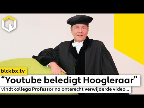 """""""Youtube beledigt Hoogleraar"""", vindt collega Professor na verwijderde video…"""