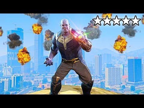 DESTROYING GTA 5 AS THANOS!