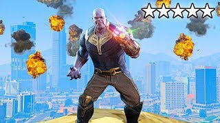 DESTROYING GTA 5 AS THANOS!