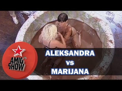 Aleskandra Suboti vs Marijana - Rvanje u okoladi (Ami G Show S11)