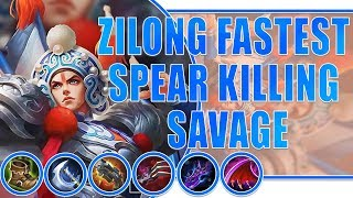 Zilong Top Global 100% Savage Build by Selectra Mobile Legends Bang Bang