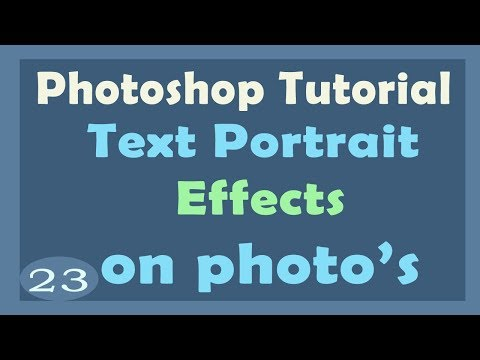 How to Create Text Portrait Effect in Photoshop  | photoshop tutorial in hindi | photoshop effect
