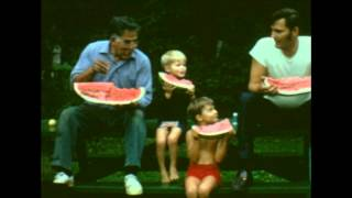 Great Watermelon Eat Out - Joes Pond West Danville, Vermont - July 1972