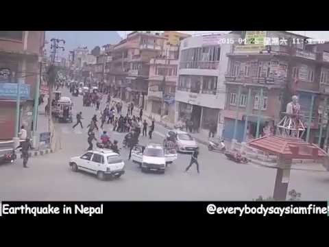 Nepal Earthquake Live CCTV footage from 10 spots