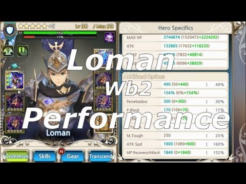 [King's Raid] Loman - How to WB2! With Chase 600 MIL DPS!