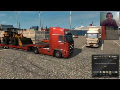 ETS2 - Full Pack - 4# The Great Parking In Manchester When I Delivered The Digger From Rotterdam