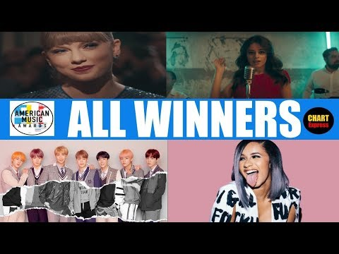 American Music Awards 2018 - ALL WINNERS | AMA's 2018 | October 09, 2018 | ChartExpress