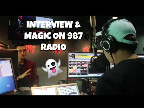 MAGIC AT 987FM SINGAPORE'S RADIO STATION!!!