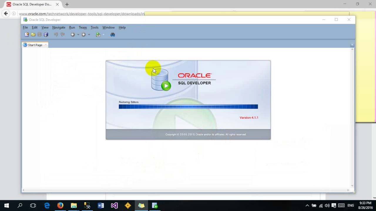 SQL Developer,SQLPlus,Web Tools for connecting oracle database 11g