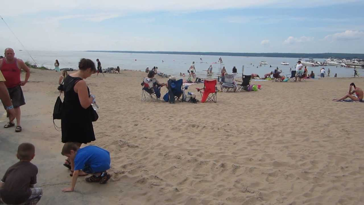 Sylvan Beach Crowded New York