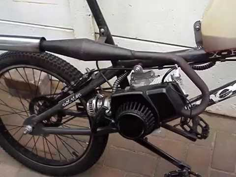 Bmx Engine Powered 50cc Pocket Bike Engine Youtube