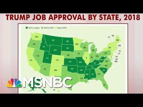 President Donald Trump Scores Under 40 Percent In 16 States: Gallup | Morning Joe | MSNBC