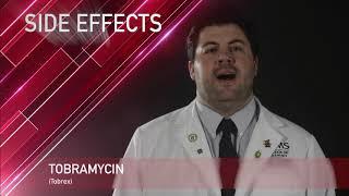 Tobramycin or Tobrex Medication Information (dosing, side effects, patient counseling)